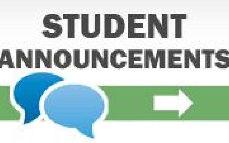 BHS Student Announcements